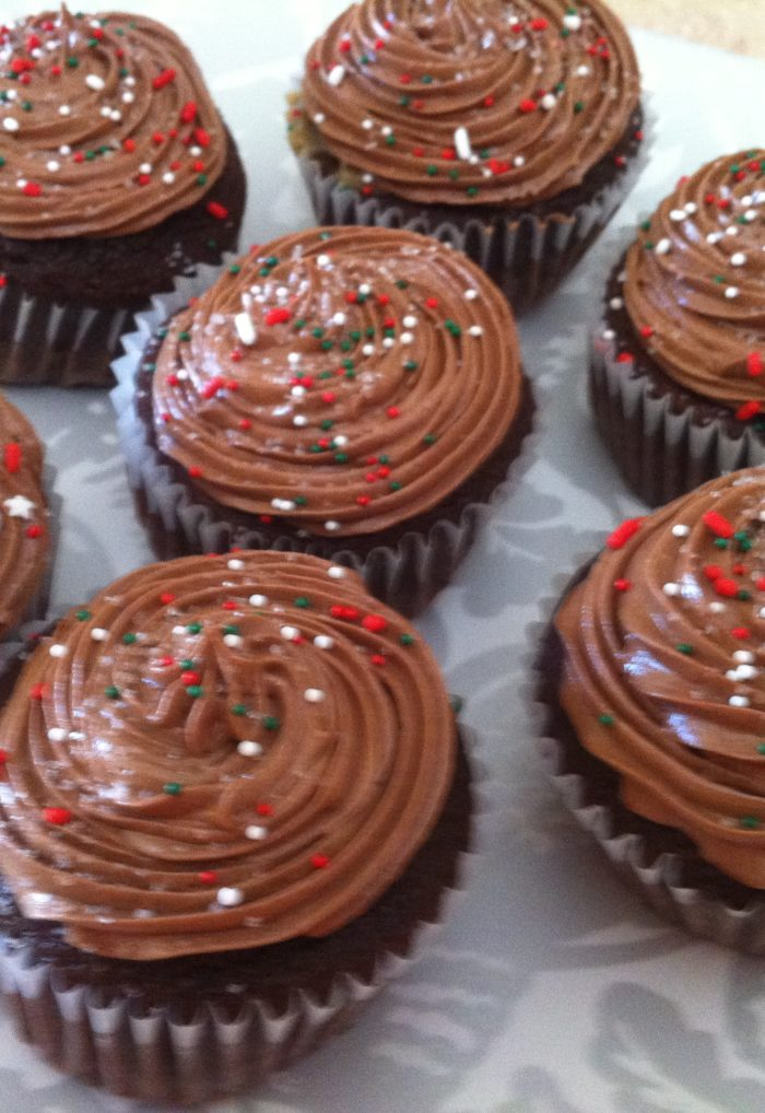 Merry Christmas! Celebrate the season with Chocolate Caramel Cupcakes