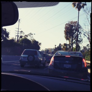 LA traffic is no joke. Because we missed our first flight, we ended up in rush hour. It took us 2 hours to drive 20 miles.
